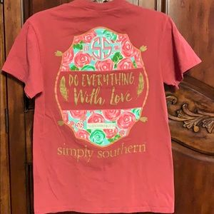 Simply Southern collection short sleeve tee- S